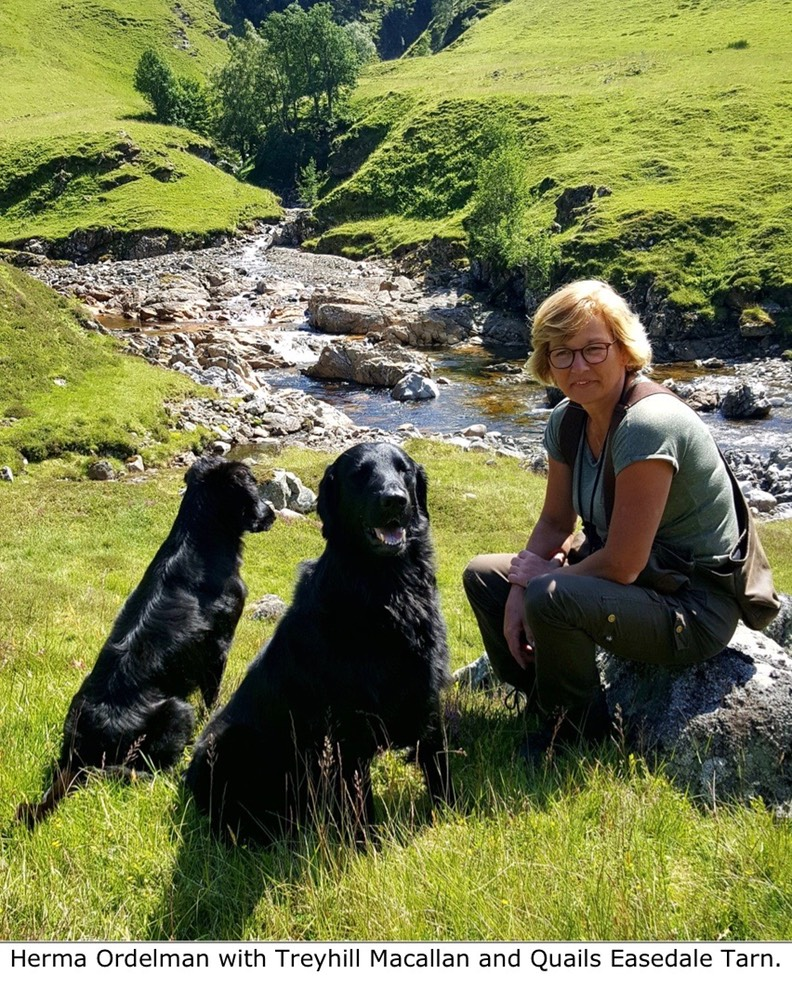 Herma Ordelman with Treyhill Macallan and Quails Easedale Tarn