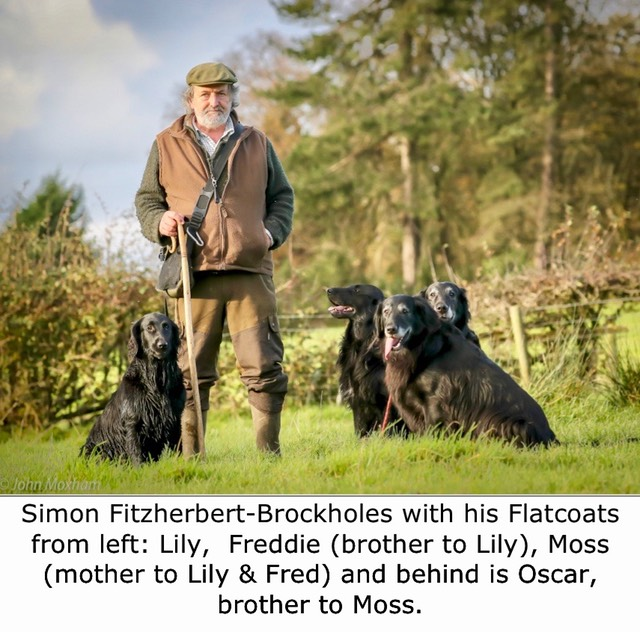 Simon Fitzherbert and his flatcoats