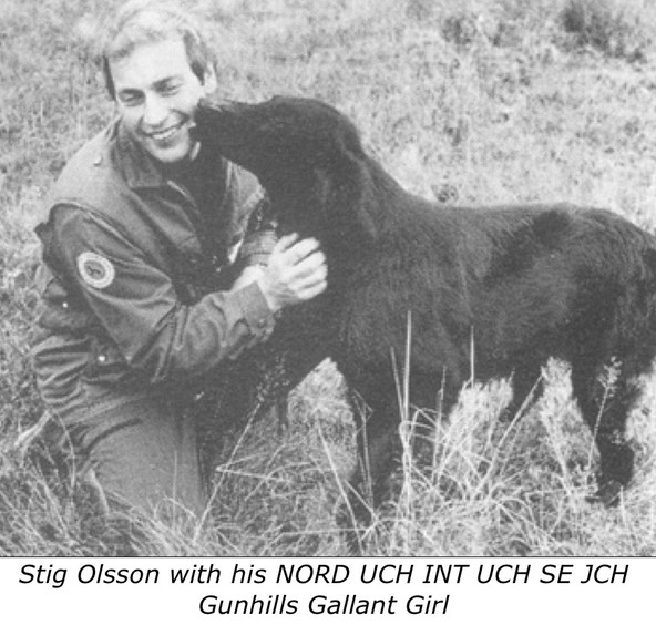 Stig Olsson with his NORD UCH INT UCH SE JCH Gunhills Gallant Girl
